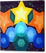 Circles And Stars Canvas Print