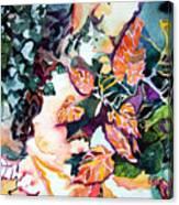 Circling Leaves Canvas Print
