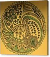 Circular Artwork Canvas Print