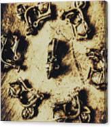 Circular Parade Of Scooter Canvas Print