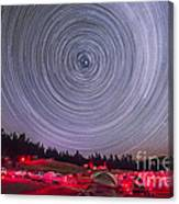 Circumpolar Star Trails Above The Table Canvas Print