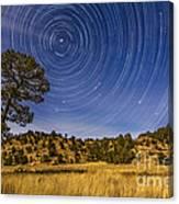 Circumpolar Star Trails Over Mimbres Canvas Print