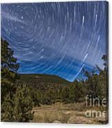 Circumpolar Star Trails Over The Gila Canvas Print