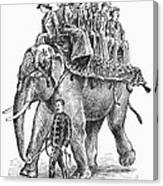 Circus: Elephant, C1901 Canvas Print