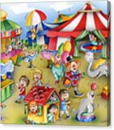 Circus In Town Canvas Print