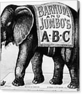 Circus: Jumbo, C1882 Canvas Print