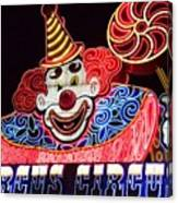 Circus Neons Canvas Print