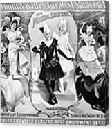 Circus Poster, 1895 Canvas Print
