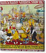 Circus Poster, 1903 Canvas Print