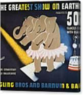 Circus Poster, 1942 Canvas Print