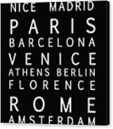 Cities Of Europe Canvas Print
