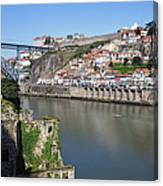 Cities Of Porto And Gaia In Portugal Canvas Print