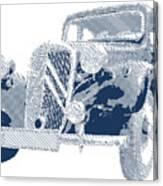 Citroen Traction Avant  - Parallel Hatching Canvas Print