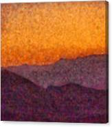 City - Arizona - Rolling Hills Canvas Print