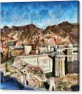 City - Nevada - Hoover Dam Canvas Print