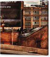 City - Ny - New York History Canvas Print