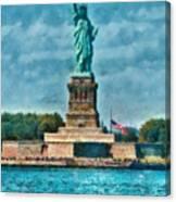 City - Ny - The Statue Of Liberty Canvas Print