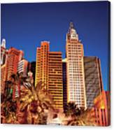 City - Vegas - Ny - The New York Hotel Canvas Print