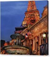 City - Vegas - Paris - Academie Nationale - Panorama Canvas Print