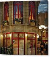 City - Vegas - Paris - Le Cafe Canvas Print