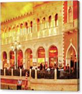 City - Vegas - Venetian - Life At The Palazzo Canvas Print