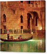 City - Vegas - Venetian - The Gondola's Of Venice Canvas Print