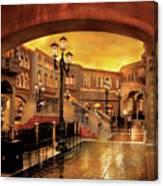 City - Vegas - Venetian - The Streets Of Venice Canvas Print