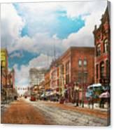City - Arkansas - Main St 1925 Canvas Print