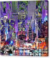 City Art Syncopation Cityscape Canvas Print