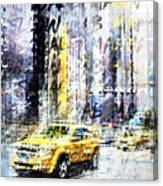 City-art Times Square Streetscene Canvas Print