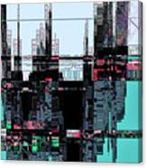 City As Computer Chips  Canvas Print