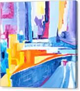 City At Waters Edge Canvas Print