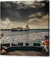City Fishing Canvas Print