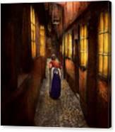 City - Germany - Alley - A Long Hard Life 1904 Canvas Print