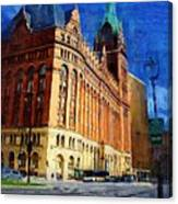 City Hall And Lamp Post Canvas Print