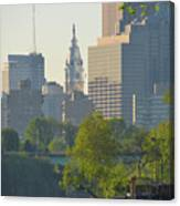 City Hall From The Schuylkill River Canvas Print