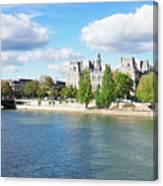 Seine River Embankment Canvas Print
