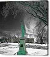 City High Statue Canvas Print