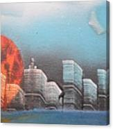 City In The Day. Canvas Print