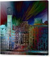 City In Transmission Canvas Print