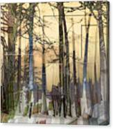 City In Trees Canvas Print