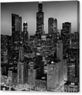 City Light Chicago B W Canvas Print
