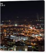 City Lights Over Bham, Al Canvas Print