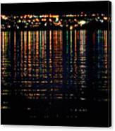 City Lights Upon The Water 1 Canvas Print