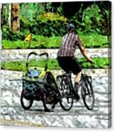 City Man On A Bike Canvas Print