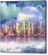 City Moon Canvas Print