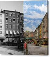 City - New York Ny - Fraunce's Tavern 1890 - Side By Side Canvas Print