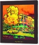 City Night Life Canvas Print