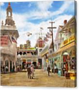 City - Ny - The Great Steeplechase 1903 Canvas Print