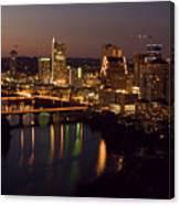 City Of Austin At Dusk Canvas Print